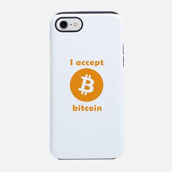 I accept bitcoin iPhone 8/7 Tough Case
