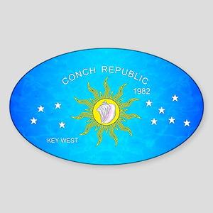 The Conch Republic Flag Sticker
