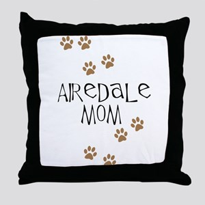 Airedale Mom Throw Pillow