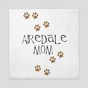 Airedale Mom Queen Duvet