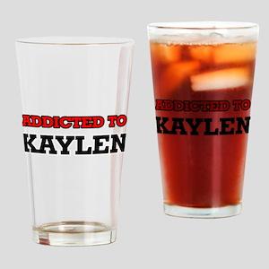 Addicted to Kaylen Drinking Glass