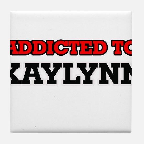 Addicted to Kaylynn Tile Coaster
