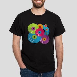 Neon Vinyl Records Dark T-Shirt