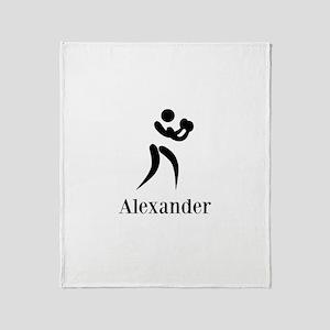 Team Boxing Monogram Throw Blanket