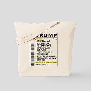 Trump Prescription For America Tote Bag