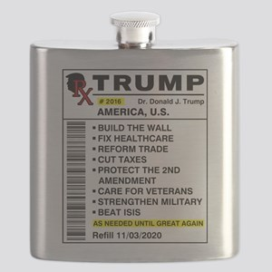 Trump Prescription For America Flask
