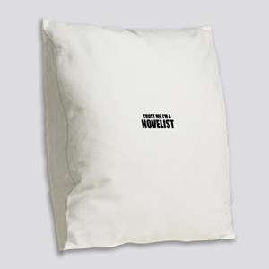 Trust Me, I'm An Author Burlap Throw Pillow