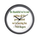 Will Rogers Government Quote Wall Clock