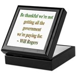 Will Rogers Government Quote Keepsake Box