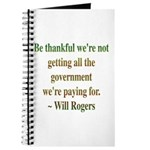 Will Rogers Government Quote Journal