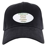 Will Rogers Government Quote Black Cap