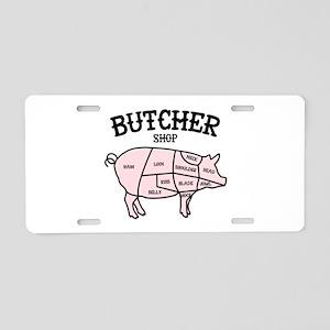 Butcher Shop Aluminum License Plate