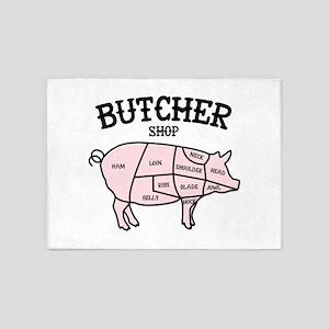 Butcher Shop 5'x7'Area Rug