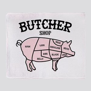 Butcher Shop Throw Blanket
