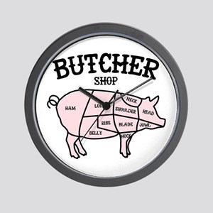 Butcher Shop Wall Clock