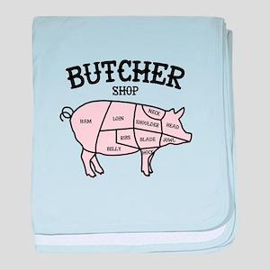Butcher Shop baby blanket