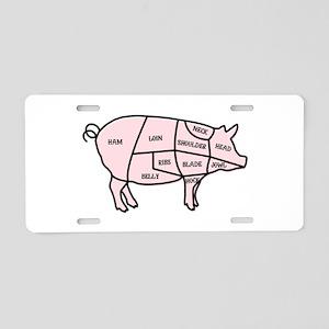 Pork Cuts Aluminum License Plate