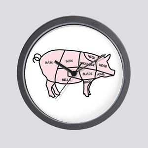 Pork Cuts Wall Clock