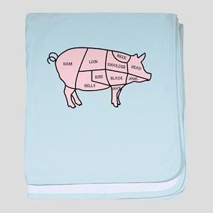 Pork Cuts baby blanket