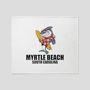 Myrtle Beach, South Carolina Throw Blanket