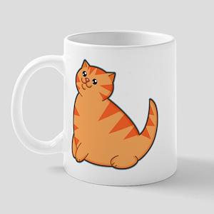 Happy Fat Orange Cat Mug