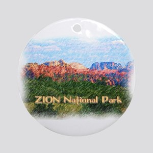 Zion National Park, Utah Round Ornament