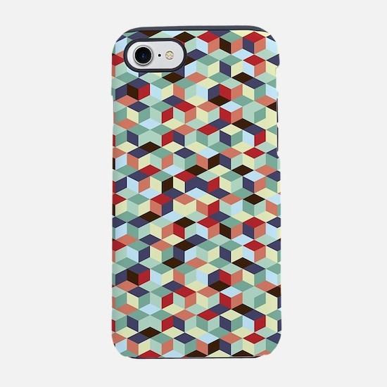 Colorful cubes iPhone 8/7 Tough Case