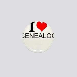 I Love Genealogy Mini Button