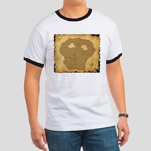 Old Pirate Treasure Map T-Shirt