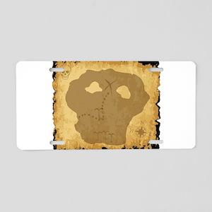 Old Pirate Treasure Map Aluminum License Plate