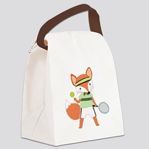 Red Fox Tennis Canvas Lunch Bag