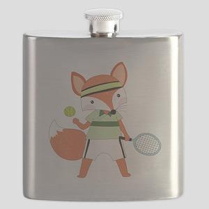 Red Fox Tennis Flask