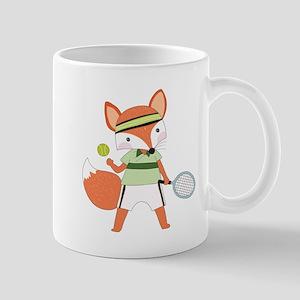 Red Fox Tennis Mug
