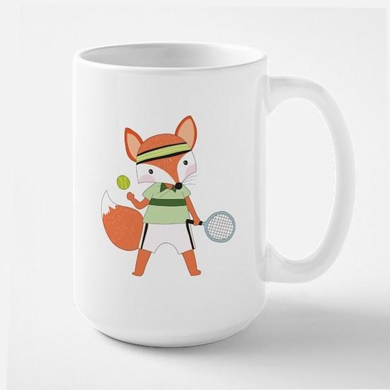 Red Fox Tennis Large Mug