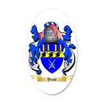 Yeats Oval Car Magnet