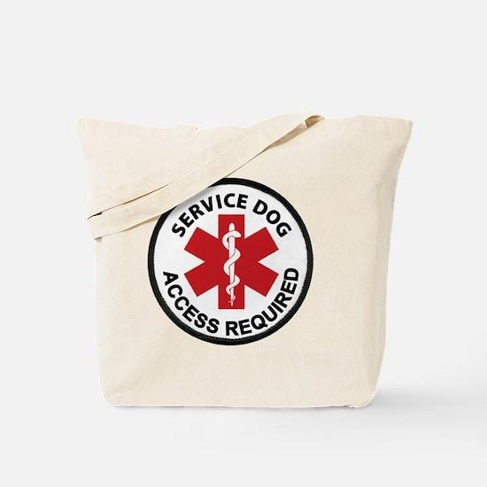 Cute Service dog Tote Bag