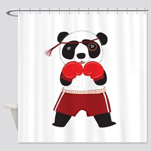 Boxing Panda Bear Shower Curtain