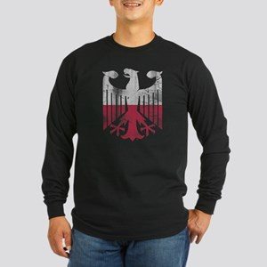 German Polish Heritage Flag Ea Long Sleeve T-Shirt