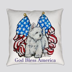 God Bless Westies Everyday Pillow