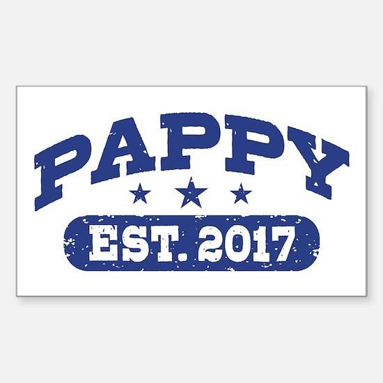 Pappy Est. 2017 Sticker (Rectangle)