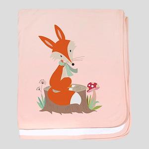 Wildlife Red Fox baby blanket