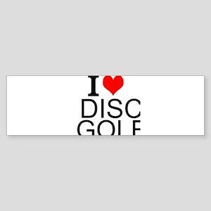 I Love Disc Golf Bumper Sticker