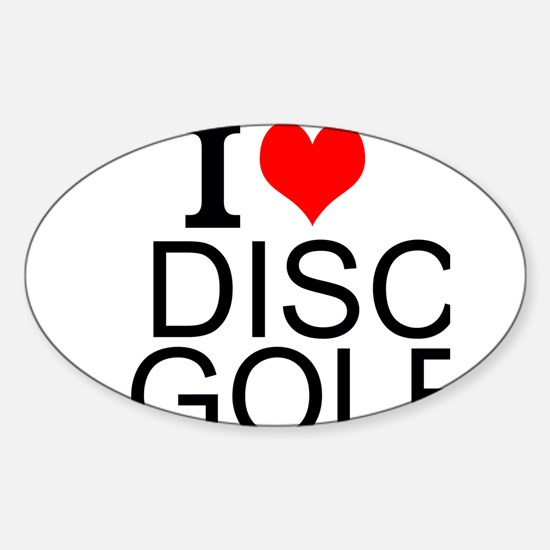 I Love Disc Golf Decal