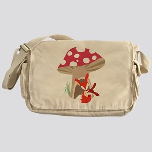Red Fox and Baby Messenger Bag