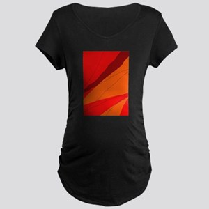 Orange abstract design Maternity T-Shirt