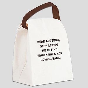 DEAR ALGEBRA Canvas Lunch Bag