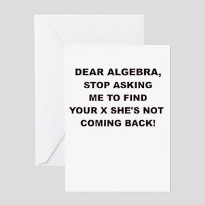 DEAR ALGEBRA Greeting Cards