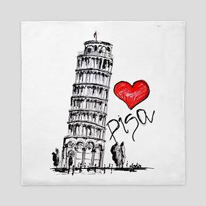 I love Pisa Queen Duvet