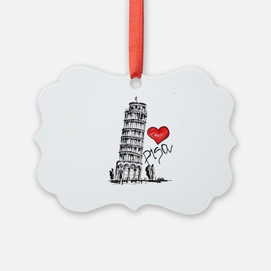 I love Pisa Ornament