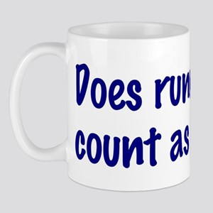 Does running late count as exercise? Mug